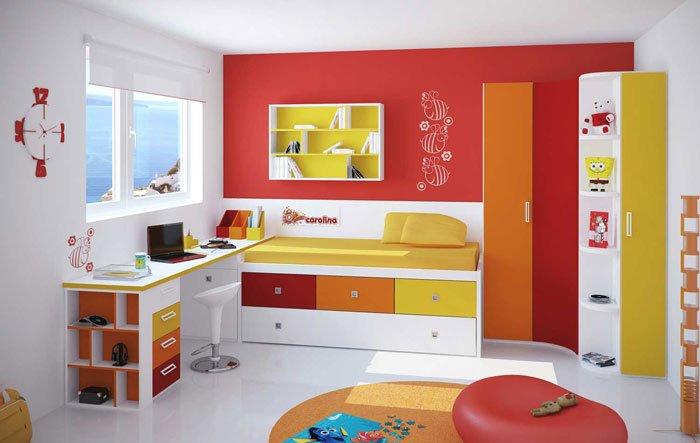 رنگ یک دیوار در طراحی دکوراسیون داخلی