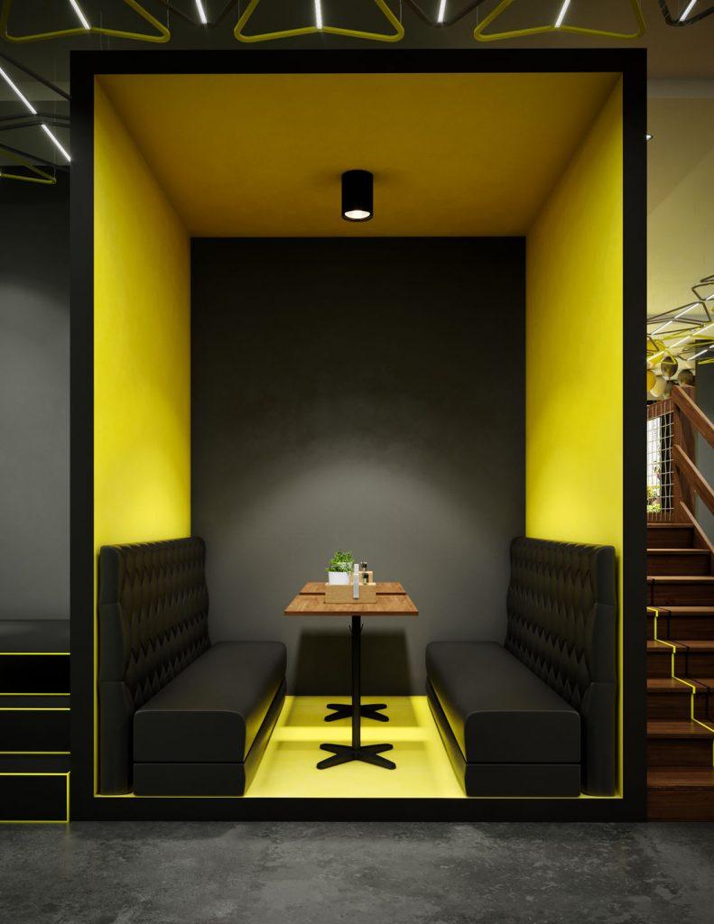 طراحی دکوراسیون داخلی رستوران در تهران